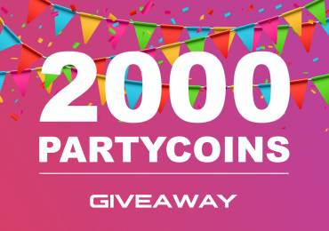 We give away 2000 Partycoins to every new registered user!